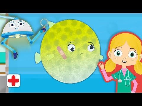 Boris The Puffer Fish Visits Dr Poppy's Pet Rescue | Animal Learning Cartoons For Toddlers