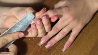 Наращивание ногтей на верхние типсы|Жидкие типсы|Маникюр|Elena M|