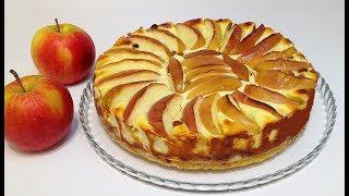 ЯБЛОЧНО - ТВОРОЖНЫЙ ПИРОГ(apple-curd cake)