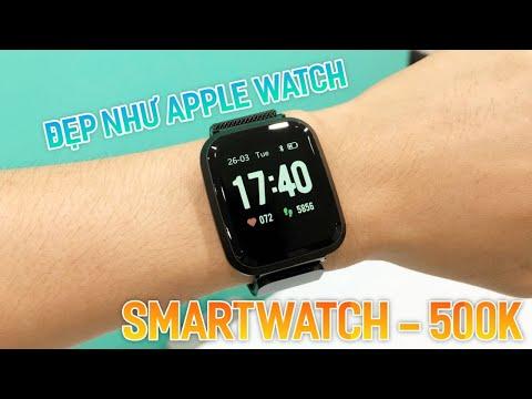 Smartwatch 500K - Đẹp Như Apple Watch - Màn Hình Đẹp , Đo Nhịp Tim , Huyết Áp , Pin 1 Tuần.