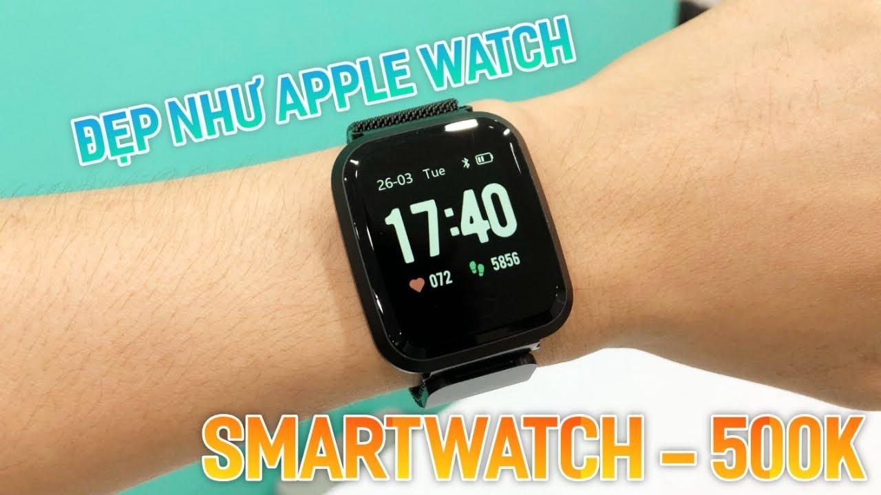 Smartwatch 500K – Đẹp Như Apple Watch – Màn Hình Đẹp , Đo Nhịp Tim , Huyết Áp , Pin 1 Tuần.