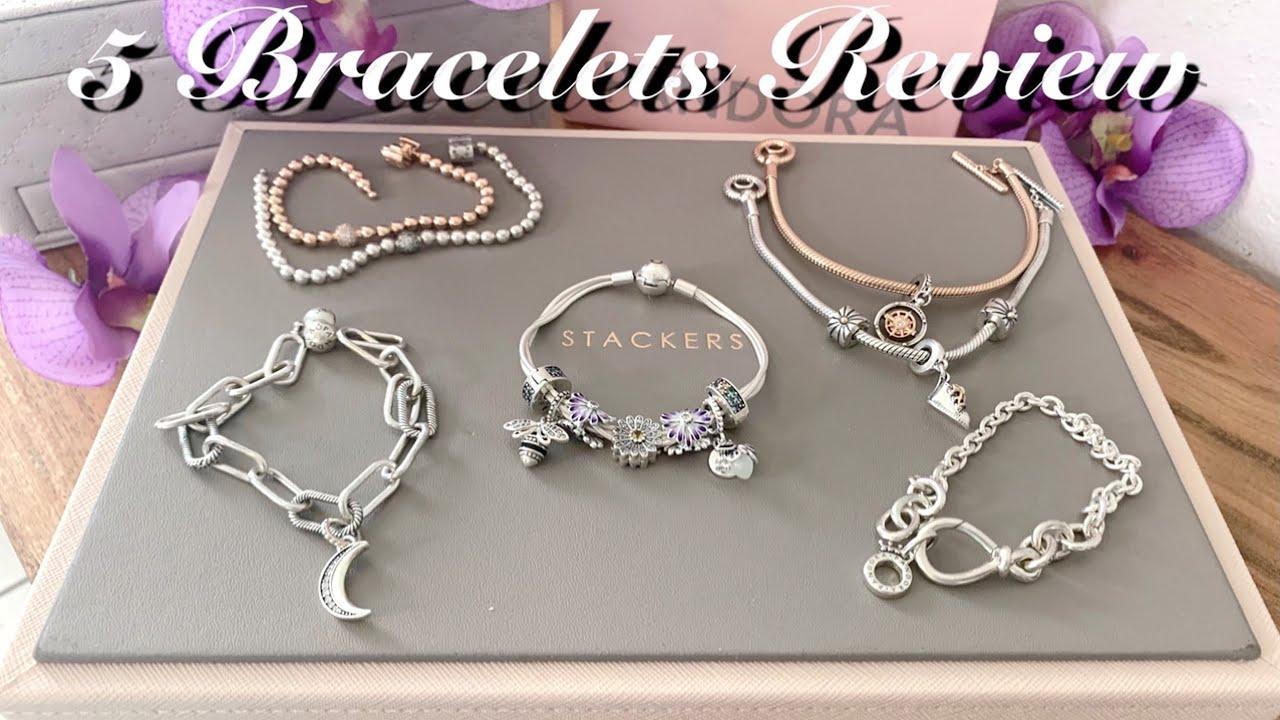 Pandora Bracelets Reviewed| Pandora Me | Beads and Pavé | Chunky Infinity  Knot | T-Bar | Multi-strad