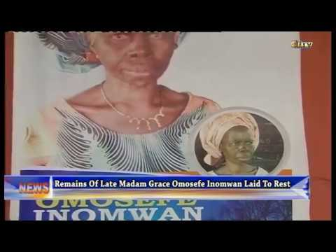 Remains of Late Madam Grace Omosefe Inomwan laid to rest
