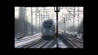 ICE, GZ, IC und RE Winter Bad Oldesloe 01.2013