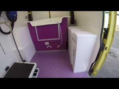 Mobile Dog Grooming Vans Limited In Cheshire Conversion On A New Van