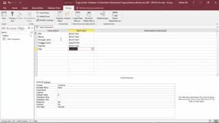 Tutorial : Cara Membuat Table dan Query Database dengan Ms. Access 2016