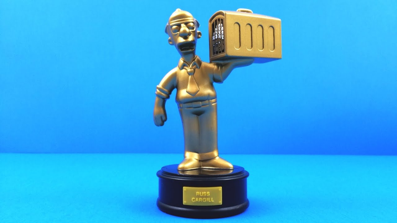Gold Russ Cargill 2007 Burger King The Simpsons Talking Golden Statues Toy 12 Complete Set Of 15 Youtube