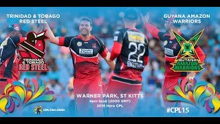 Game 14 highlights - Red Steel vs Amazon Warriors | #CPL15
