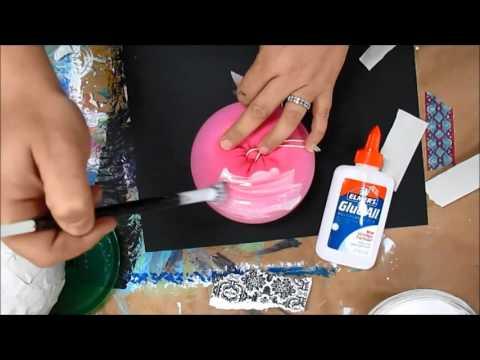 How to make a paper mache pumpkin #thinkpinkart