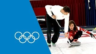 Learn Curling From The Pros - Cheryl Bernard & John Morris | Faster Higher Stronger