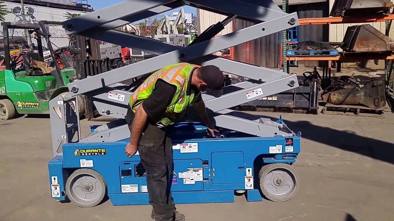 hight resolution of how to operate a genie scissor lift