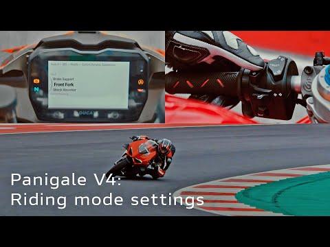 2021 Ducati Panigale V4   Tutorial 7: Riding Mode Settings