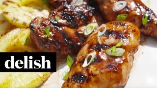 How To Make Grilled Aloha Chicken  Delish