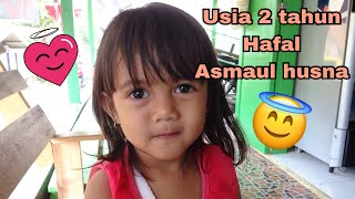 MasyaAllah , Usia 2tahun hafal Asmaul husna 😊 Ini baru KID ZAMAN NOW
