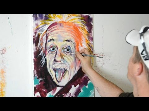 Painting Albert Einstein - Contemporary Modern Art Style