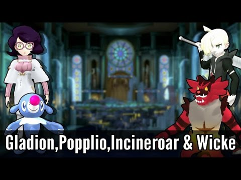 GladionPopplioIncineroar & Wicke - Super Smash Bros Wii U Mods