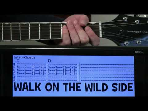Lou Reed Walk On The Wild Side Guitar Chords Lesson With Tab Youtube