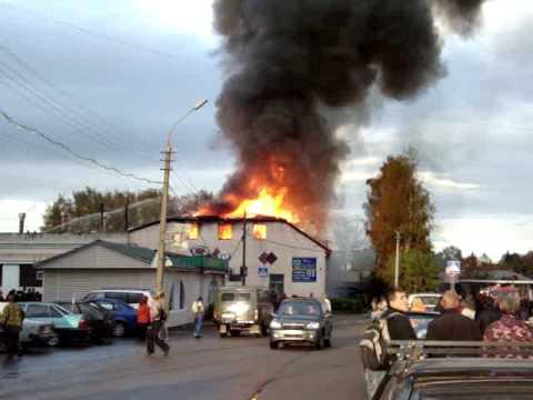 Пожар на хлебзаводе в Высоковске
