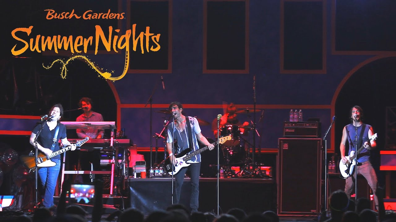 The All American Rejects Busch Gardens Summer Nights Concert Tampa Fl Youtube