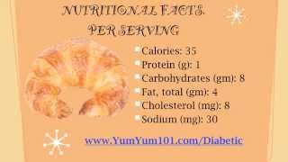 Diabetic Recipes | Raspberry Strudel Croissant Delight
