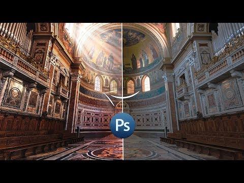 Обработка фотографии архитектуры в Фотошопе для глянца