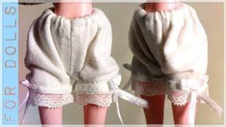 КАК СШИТЬ НИЖНЕЕ БЕЛЬЕ ♡ Панталончики ♡ ДЛЯ КУКОЛ ♡ Как сделать одежду для куклы ♡ FOR DOLLS(Привет! В этом видео продолжаем серию мастер классов по созданию ООАКа из поддельной куклы монстер хай..., 2016-10-19T06:06:01.000Z)