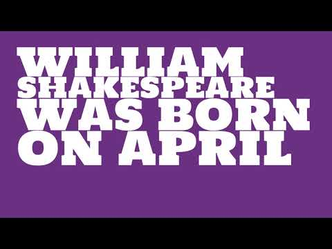 Who does William Shakespeare share a birthday with?