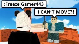 USING ADMIN COMMANDS IN ROBLOX SKYWARS!!