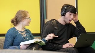 Blasting INAPPROPRIATE Songs (PART 10) in the Library PRANK thumbnail