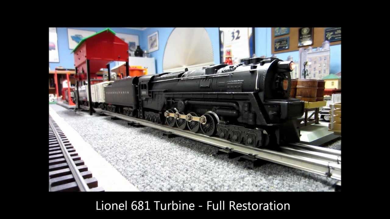 lionel 681 turbine full restoration youtube