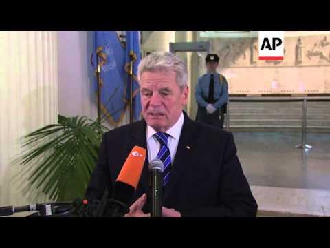 German president pays visit to Yugoslav war crimes tribunal