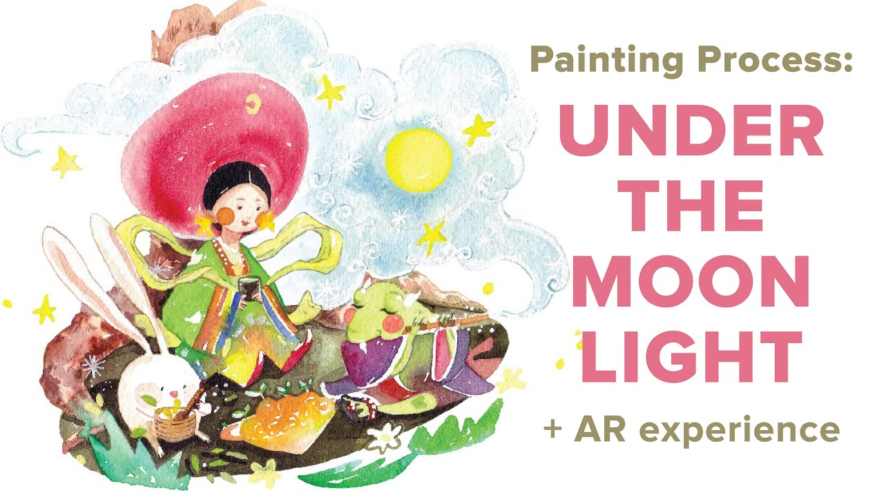 Painting Process: Under The Moon Light + AR experience