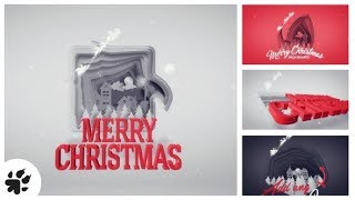 After Effects Template: Christmas Greetings Paper Cut