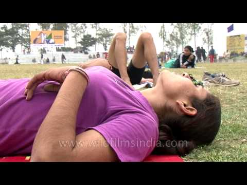 Woman athlete catching her breath at Rural Olympics