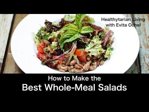 Whole-Meal Salad 5 Step Template (whole food vegan, oil-free)