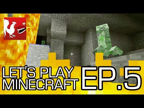 Let's Play Minecraft - Episode 5 - The Hunt for Diamonds | Rooster Teeth