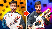 Find A Match, Get The Blaster! NERF Card Game Challenge!