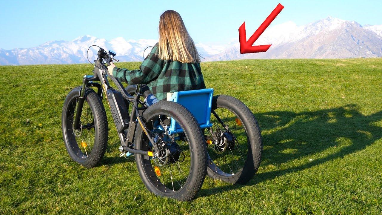 Homemade Off Road Electric Wheelchair   She Had NO Idea!