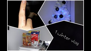 1 winter vlog (część 1) chory palec, biała choinka