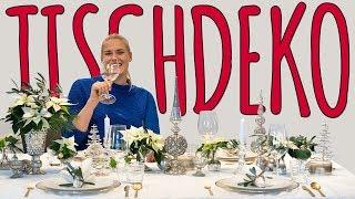 EDLE TISCHDEKO FÜR WEIHNACHTEN - DEKO DIY