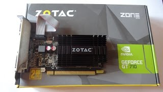 zotac nvidia geforce gt 710 2gb ddr3 graphics card unboxing best budget graphics card in 2016