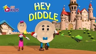 Hey Diddle Diddle The Cat and The Fiddle with Lyrics | LIV Kids Nursery Rhymes and Songs | HD