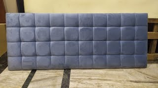 quilted bed headboard making process by zafar khan