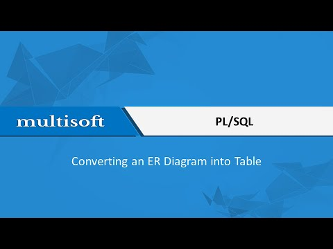 How To Convert An Er Diagram Into Table In Plsql Sample Video