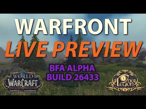 Arathi Warfront First Look - Battle for Azeroth Alpha