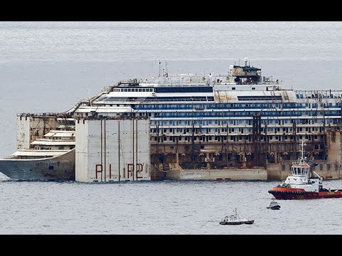 Time-lapse: Costa Concordia completes final voyage to the scrap yard