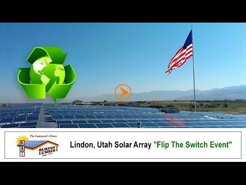 "Burton Lumber Solar Array ""Flip The Switch"" Event - Burton Lumber Lindon"