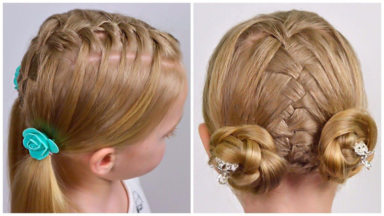 2 Cute Braided Hairstles for Medium Hair | LittleGirlHair