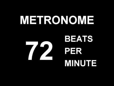 METRONOME 72 BPM (BEATS PER MINUTE) - YouTube