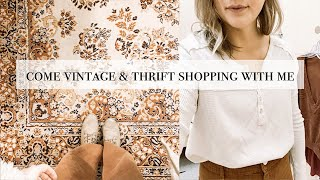 Come Vintage and Thrift Shopping With Me